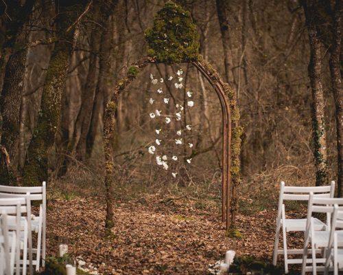 Mariage dans les bois arche ceremonie laique studio aloki