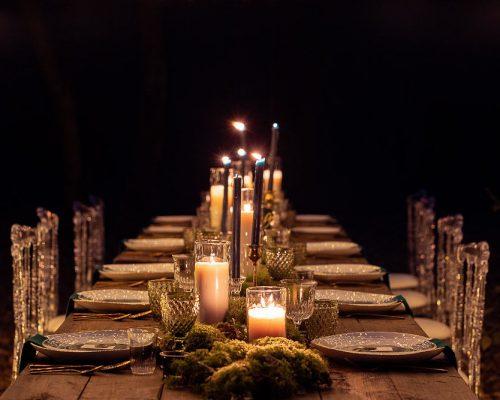 Mariage dans les bois decoration table studio aloki