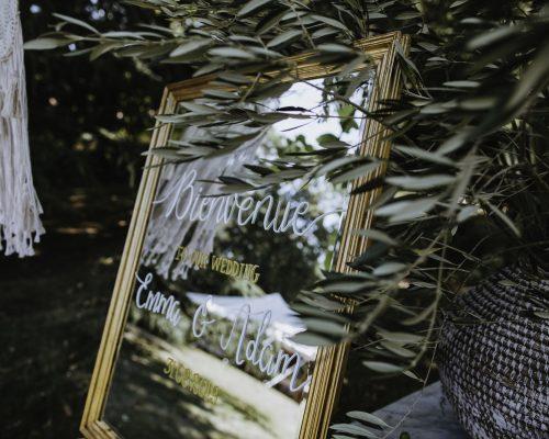 Miroir accueil decoration ceremonie laique studio aloki