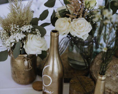 Numero de table bouteille mariage boheme decoration de table studio aloki